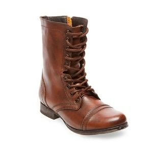 Steve Madden Troopa Lace Up Combat Boot 9.5 Brown